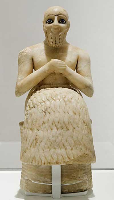 Statue of a Sumerian man, Ebih-Il - intendant, Early Dynastic.