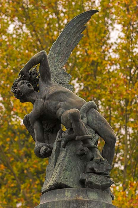 Statue of the Fallen Angel by Ricardo Bellver, 1877, Spain.