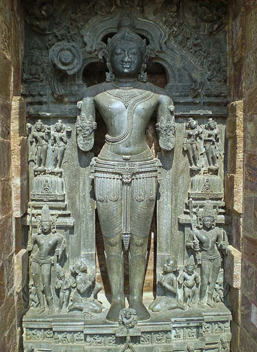 Statue of the Sun God Surya in the Sun Temple in Konark, Orissa, India