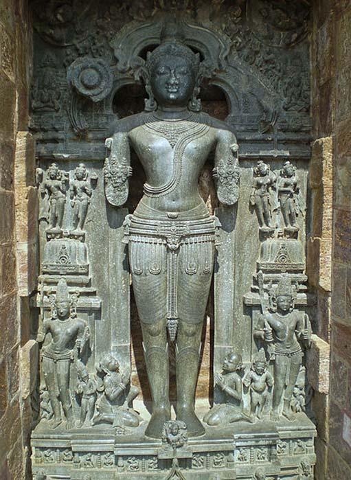 Statue of the Sun God Surya in the Sun Temple in Konark, Orissa, India