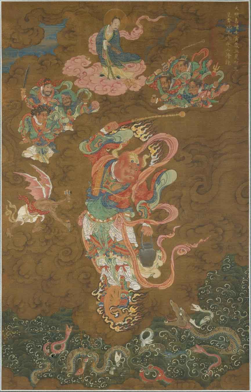 The thunder god Leigong depicted in a 1542 painting from the Ming dynasty. (Public Domain)