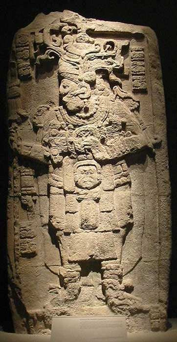 Stele 51 from Calakmul, representing king Yuknoom Took' K'awiil, on display at the National Museum of Anthropology in Mexico City. (Public Domain)