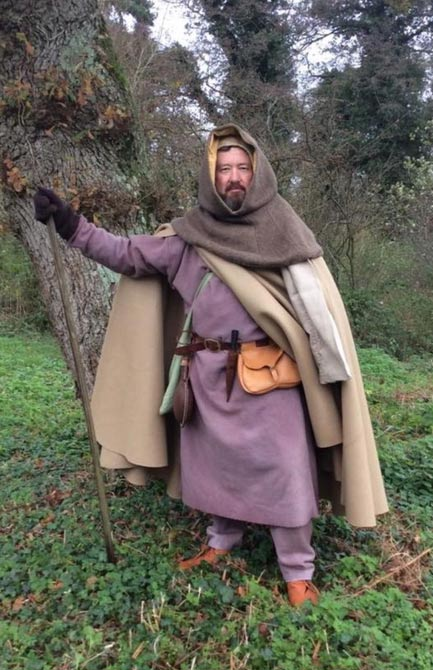 Stephen Payne: Seen here, all Payne's clothing and equipment have been crafted as they were in 1365.
