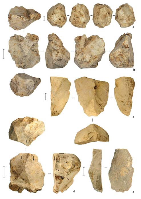 Stone artefacts from the deep deposits at Leang Burung 2, dated to at least 50,000 years ago. M W Moore, Author provided