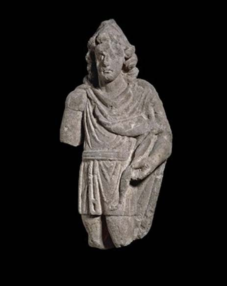 Stone figure of a hunter-god, possibly Attis or Apollo Cunomaglos. (CC BY NC SA 4.0)