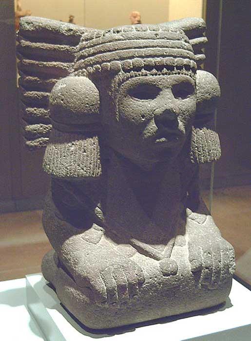 Stone sculpture representing goddess Chalchiuhtlicue. (Luis García/CC BY SA 3.0)