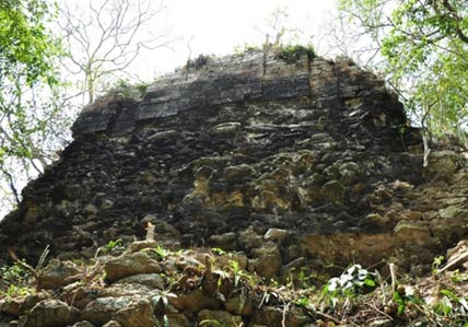 Stone structure from the previously unknown city - Tamchen