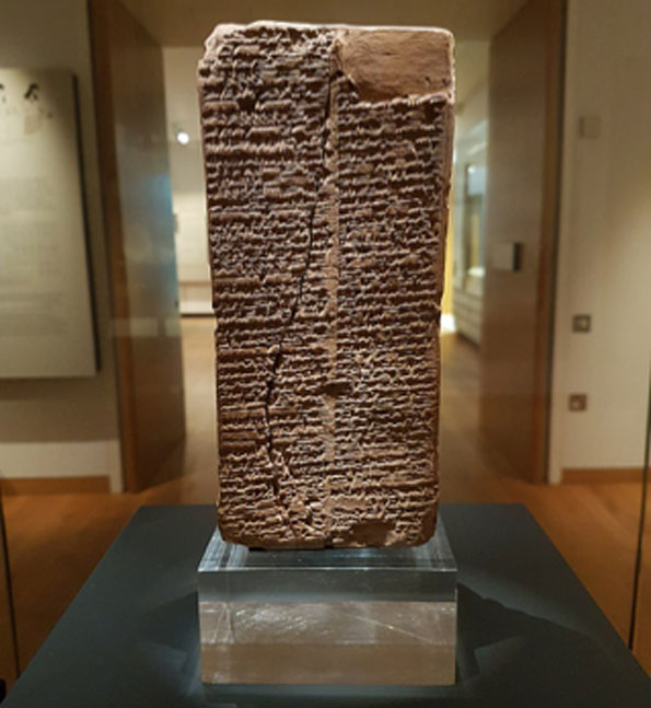 Stone tablet inscribed with the Sumerian King List. (Gts-tg / CC BY-SA 4.0)