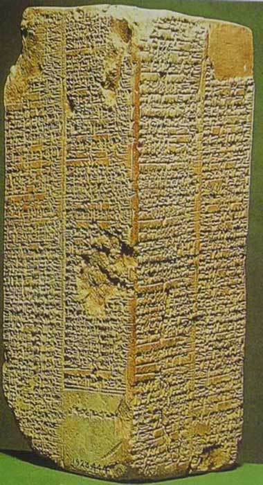 Stone tablet inscribed with the Sumerian King List.