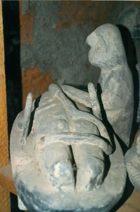 Strange sculpture in the secret collection.