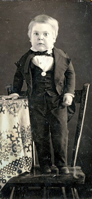 Stratton circa 1848, while 10 years old. (Public Domain)
