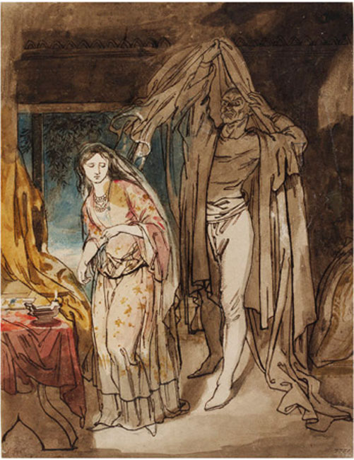 Study for The Veiled Prophet of Khorassan by Daniel RA Maclise.