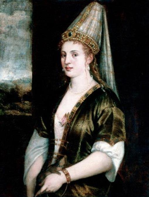 La Sultana Rossa (c. 1550) de Tiziano. (Dominio público)