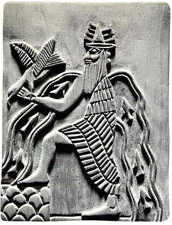 Image of the Sumerian god Enki.