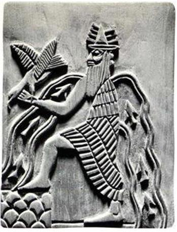 Image of the Sumerian god Enki.