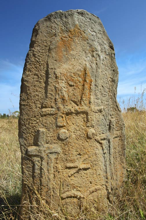Symbols engraved on the Tiya stones.