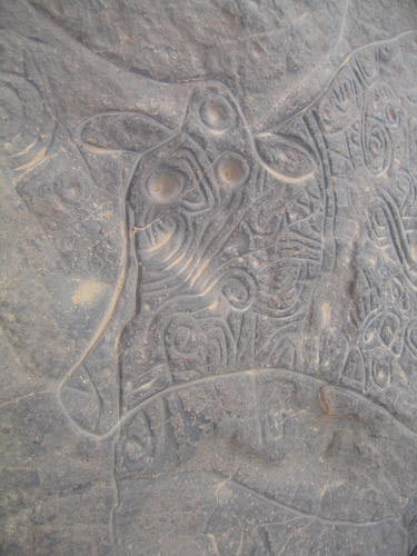 Tassili n'Ajjer - Petroglyph of Ancient Cow