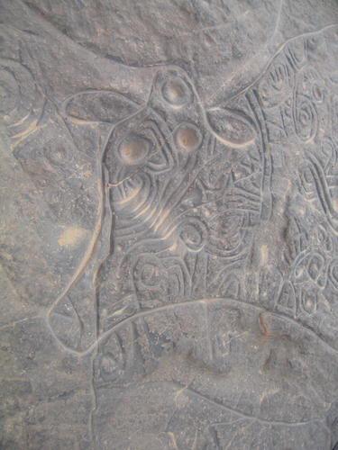 Tassili n'Ajjer - Petroglyph of Ancient Cow