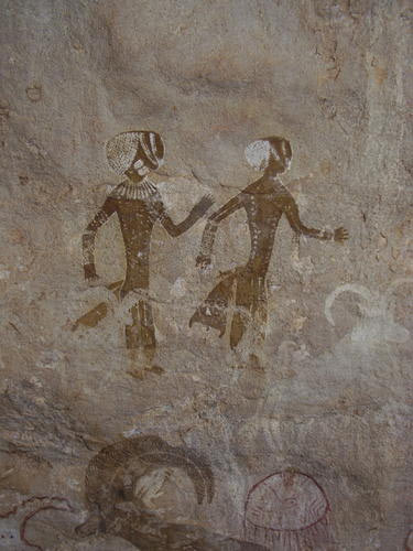 Tassili n'Ajjer - Petroglyphs Head Figure