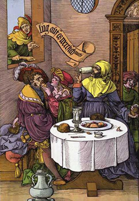 Taverns sold the services of women illicitly. (Co-flens~commonswiki / Public Domain)