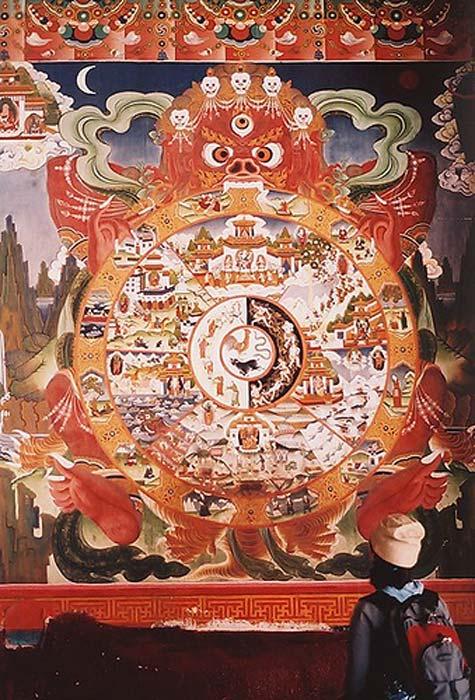 Tawang Monastery Doorway Mandala.
