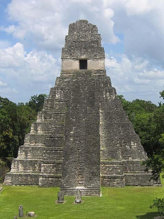 Temple at Tikal, Guatemala.