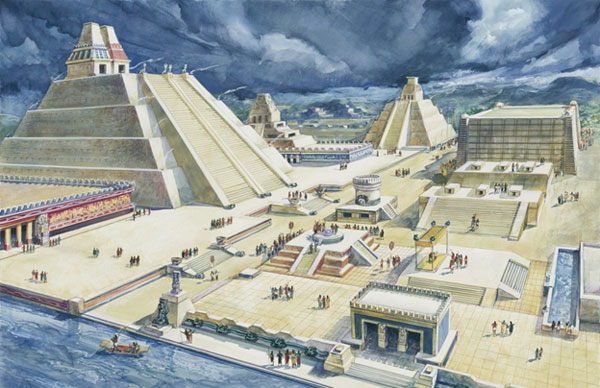 The great city of Tenochtitlan