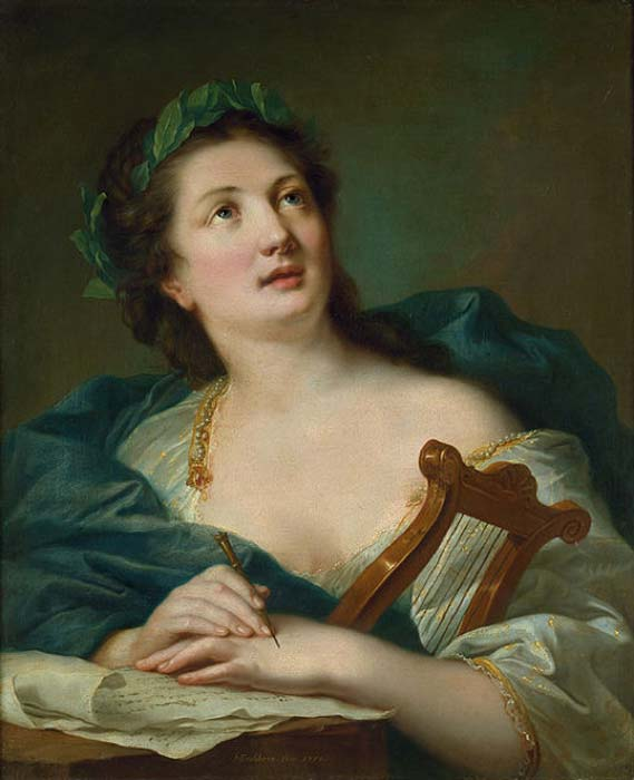 'Terpsichore mit Lorbeerkranz und Lyra' (Terpsichore with laurel wreath and lyre) (1759) by Johann Heinrich Tischbein. (Public Domain)