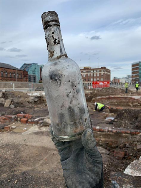 A Tetley bottle found at the site. (Archaeological Services WYAS)