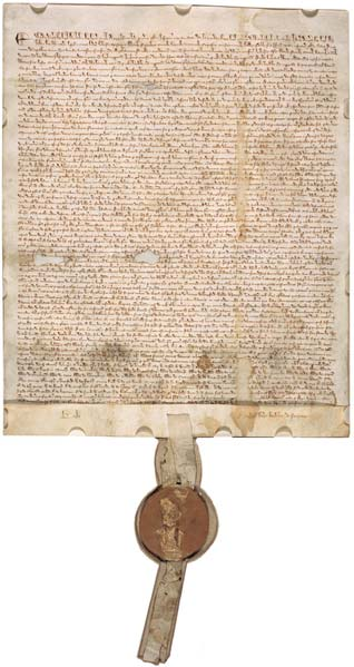 The 1297 version of Magna Carta, one of four originals of the document. (Public Domain)