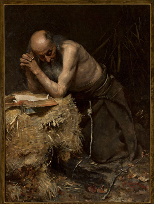 """The Anchorite"" by Teodor Axentowicz. (cyfrowe.mnw.art.pl / Public Domain)"