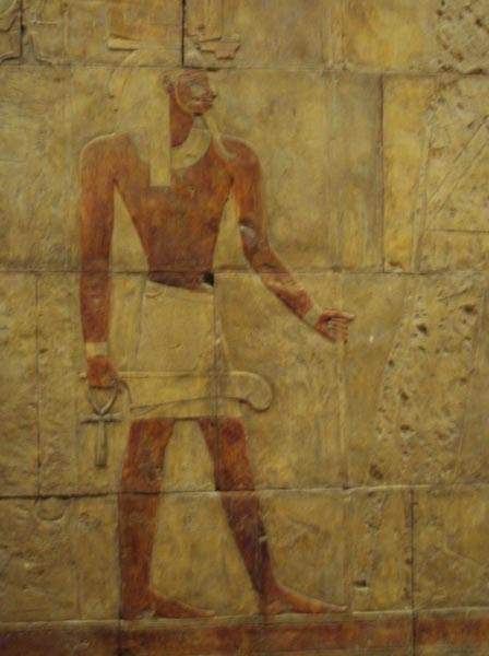 The Ankh (held in the right hand), during the reign of Hatshepsut (1508–1458 BC)