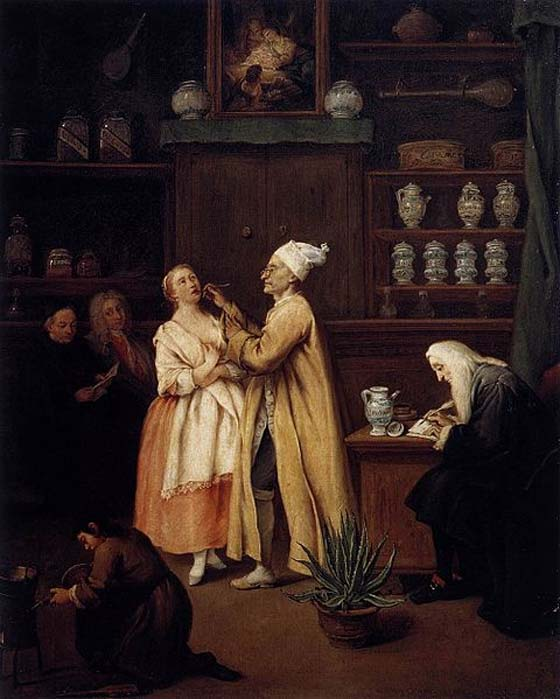 'The Apothecary' (1752) by Pietro Longhi.