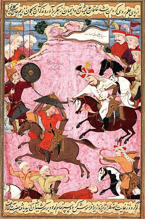 The Battle between Shah Ismail and Shaybani Khan. (Public Domain)