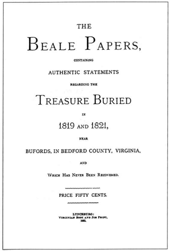 "Cover of ""The Beale Papers"""