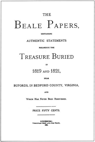 """Корица на """"The Beale Papers"""".  (Публичен домейн)"""