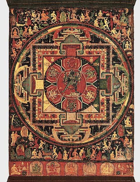 The Chakrasamvara mandala.