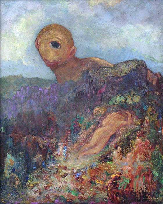 The Cyclops, Odilon Redon, circa 1914.