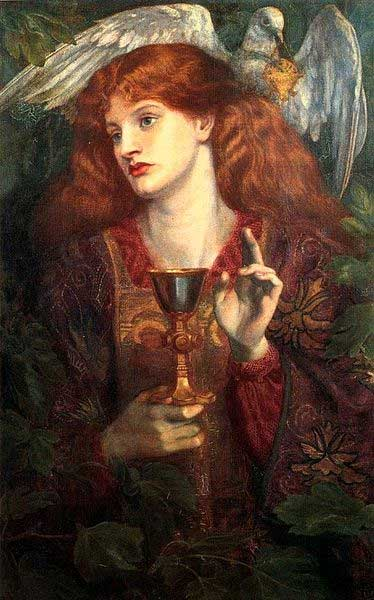 'The Damsel of the Sanct Grael' (1874) Dante Gabriel Rossetti.
