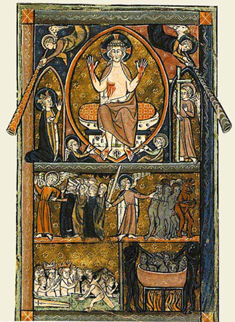 The Day of Judgement or 'Doomsday' after which Domesday Book may have been named. From a late 13th-century psalter BL Additional MS 38116 f.1v. (British Library/The National Archives)
