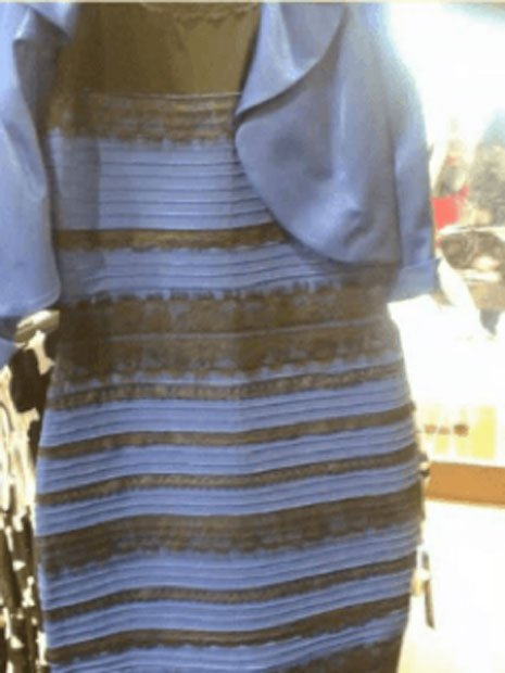 The Dress photograph that made millions of internet users argue about the colors present. (Fair Use)
