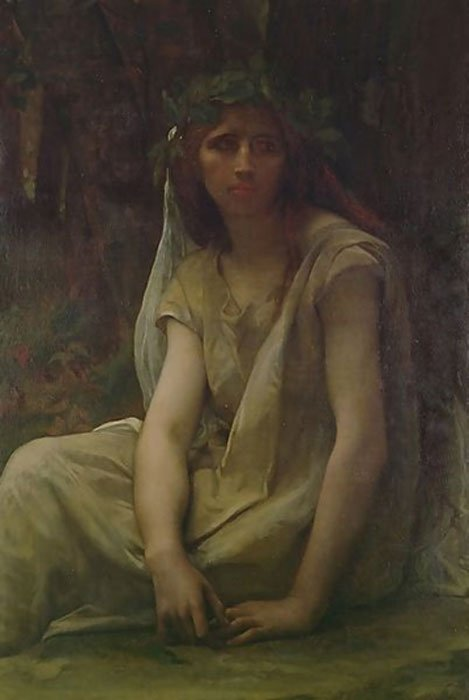 """The Druidess"", oil on canvas, by French painter Alexandre Cabanel (1823–1890)"