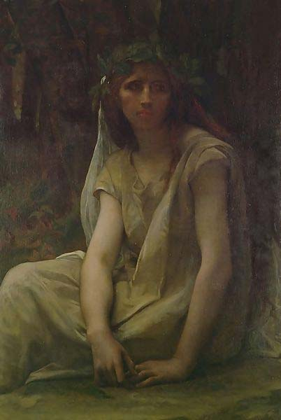 The Druidess, oil on canvas, by French painter Alexandre Cabanel (1823–1890) (Public Domain)