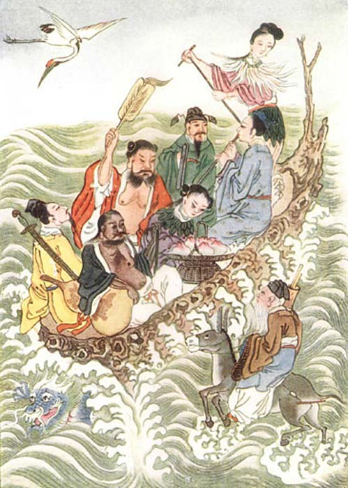 The Eight Immortals Crossing the Sea.