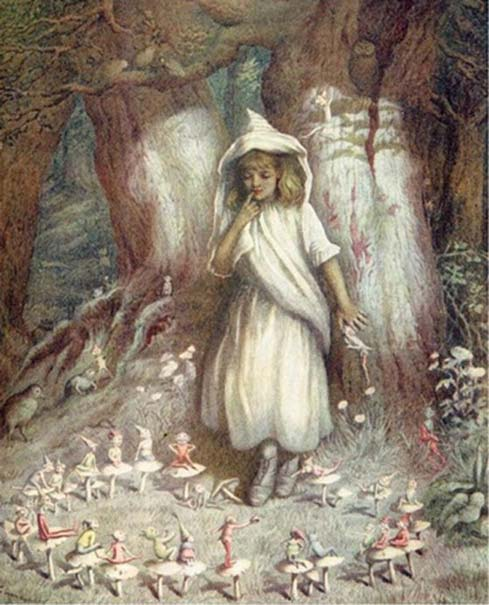 'The Elf Ring' (1905) attributed to Kate Greenaway.