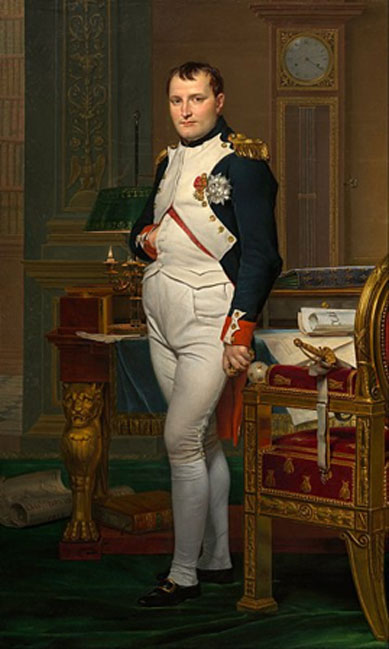 The Emperor Napoleon in his study at the Tuileries by Jacques-Louis David (1812). National Gallery of Art. (Public Domain)