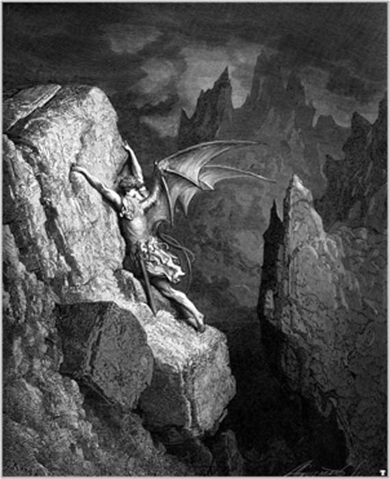 The Fall of Lucifer, by Gustave Dore, an engraving he made for 'Paradise Lost'. (Holger Thölking / Public Domain)