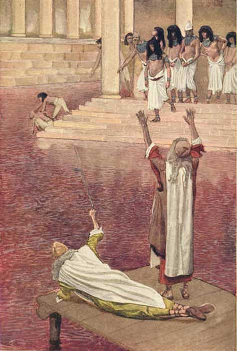 The First Plague: Water Is Changed into Blood, James Tissot