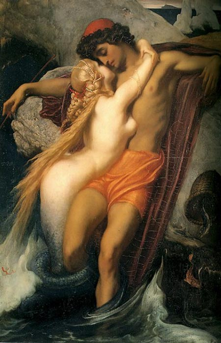 'The Fisherman and the Syren' (1856-1858) by Frederic Leighton. (Public Domain)