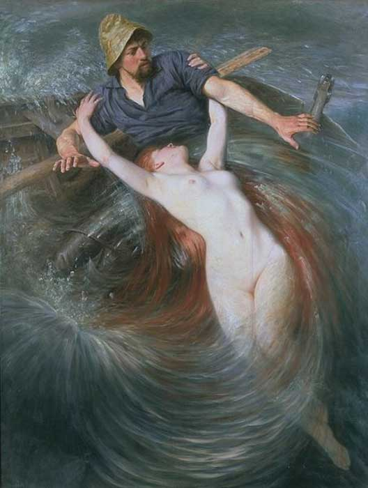 The Fishermen and the Siren by Knut Ekwall  (1843–1912) (Public Domain)
